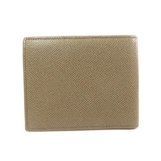 new product 5b976 7090b BVLGARI ブルガリ ロゴ金具 二つ折り財布(小銭入れあり) レザー メンズ