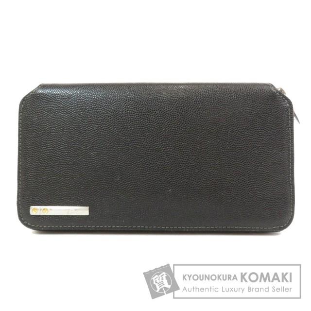 big sale d866e 86591 CARTIER カルティエ ロゴプレート 長財布(小銭入れあり) レザー レディース