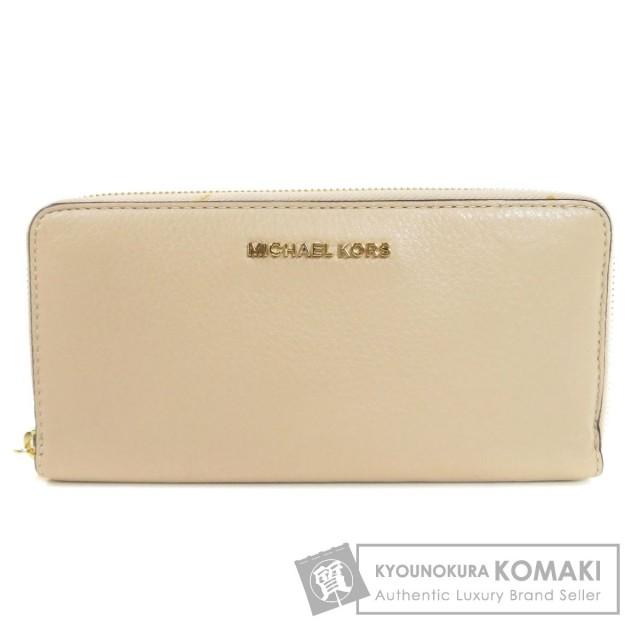 b97559bf0b33 Michael Kors マイケルコース ロゴ金具 長財布(小銭入れあり) レザー レディース