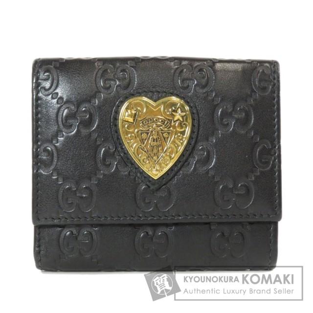 quality design 1c946 7119f GUCCI グッチ 303490 GG シマ アウトレット 二つ折り財布(小銭入れあり) レザー レディース