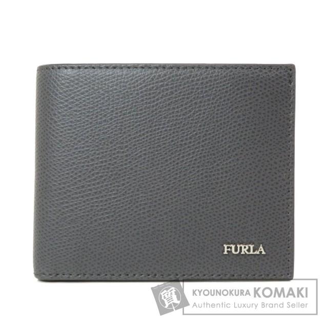 new products e7e2f f5930 Furla フルラ ロゴモチーフ 二つ折り財布(小銭入れあり) レザー メンズ