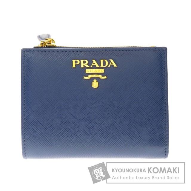 super popular c18ae ae5cb PRADA プラダ サフィアーノ 二つ折り財布(小銭入れあり) レザー レディース