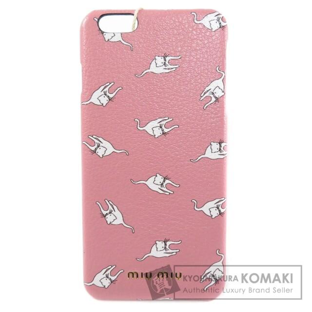 MIUMIU ミュウミュウ 5ZH007 猫モチーフ iPhone6プラス iPhoneケース レザー レディース