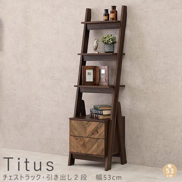 Titus(タイタス)チェストラック・引き出し2段 幅53cm