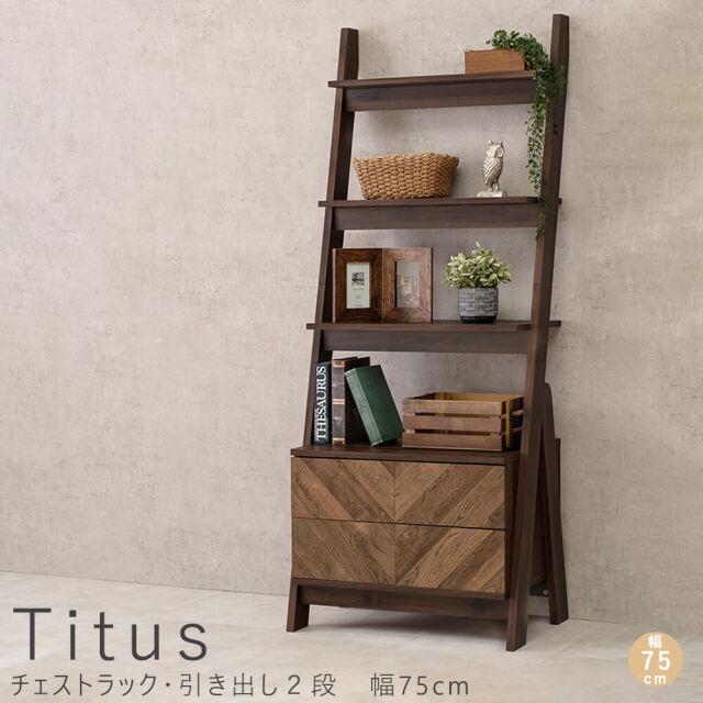 Titus(タイタス)チェストラック・引き出し2段 幅75cm