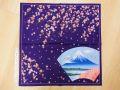 【日本のおみやげ】◆【日本の美】ハンカチ【桜扇面富士】【全10種類】