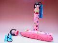 【日本のおみやげ】◆新こけし型折畳傘【全6色有】ライトピンク