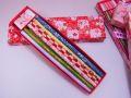 【日本のおみやげ】◆和紙友禅鉛筆6本セット【筆箱入】【色/柄はアソートとなります。】