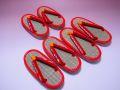 【日本のおみやげ】◆畳草履(赤)【子供用】1号〜3号