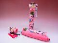 【日本のおみやげ】◆新こけし型折畳傘【しぼりピンク】【不二家ペコちゃんORIHIME】