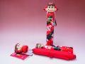【日本のおみやげ】◆新こけし型折畳傘【桜レッド】【不二家ペコちゃんORIHIME】