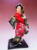 【日本のおみやげ】◆日本人形【錦鯉/赤黒着物】