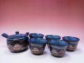 【日本のおみやげ】 ◆黒流し【茶器6点】茶器セット
