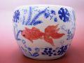 【日本のお土産】◆ミニチュア火鉢【金魚】
