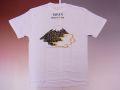 【ホームステイおみやげ】【日本土産】(漢字・和柄)◆和風Tシャツ【琳派・富士山】大人用(M〜LL)白地バックプリント