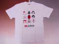 【日本のおみやげ】【ホームステイおみやげ】【日本土産】(漢字・和柄)◆和風Tシャツ【イラストJAPAN】大人用(M~LL)白地