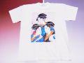 【日本のおみやげ】【ホームステイおみやげ】【日本土産】(漢字・和柄)◆和風Tシャツ【三美人】大人用(3L)白地