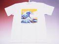【日本のおみやげ】【ホームステイおみやげ】【日本土産】(漢字・和柄)◆和風Tシャツ【波】大人用(3L)白地