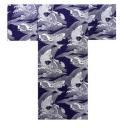 【日本のおみやげ】◆外国人向け浴衣【鯉】男性用(S〜XL)