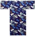 【日本のおみやげ】◆外国人向け3色地浴衣【雲竜文字】男性用(M/L)