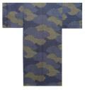 【日本のおみやげ】◆外国人向け3色地浴衣【雲取小紋】男性用(M/L)