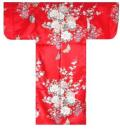 【日本のおみやげ】◆外国人向け着物【姫牡丹菊】子供用(45in〜50in)