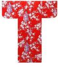 【日本のおみやげ】◆外国人向け浴衣【桜舞妓】子供用(45in〜50in)