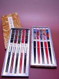 【日本のおみやげ】◆日本のお箸【若狭塗】トムソン箱入5膳セット