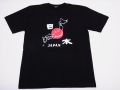 【日本のおみやげ】【ホームステイおみやげ】【日本土産】(漢字・和柄)◆和風Tシャツ【地図日本】大人用(S~3L)黒地