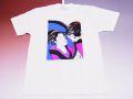 【日本のおみやげ】【ホームステイおみやげ】【日本土産】(漢字・和柄)◆和風Tシャツ【鏡美人】大人用(M~3L)白地