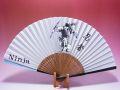 【日本のおみやげ】◆絹扇子【忍者】(絵柄扇子)「掛扇別売り」