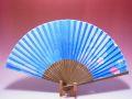 【日本のおみやげ】◆絹扇子【桜】(青)「掛扇別売り」