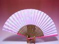 【日本のおみやげ】◆絹扇子【桜】(ピンク)「掛扇別売り」