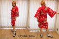 【日本のおみやげ】◆外国人向けハッピローブ【立姿ボーダー】女性用(フリーサイズ)