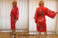 【日本のおみやげ】◆外国人向けシルクハッピローブ【立姿】女性用(フリーサイズ)