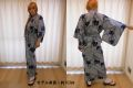 【日本のおみやげ】◆外国人向け浴衣【縞あやめ】女性用(S~LL)