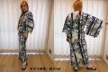 【日本のおみやげ】◆外国人向け浴衣【太竹】女性用(S~LL)