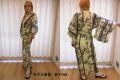 【日本のおみやげ】◆外国人向け色浴衣【竹雀】女性用(S/M)