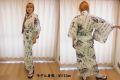 【日本のおみやげ】◆外国人向け浴衣【扇面文字】女性用(S〜L)