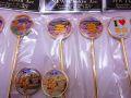 【50%OFF/大特価/在庫処分品】【日本のお土産】◆ニュー彫金グッズ【丸スプーン&フォークセット】(4種類有り)