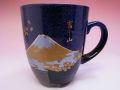 【日本のお土産】◆クロス富士マグカップ【日本美陶】
