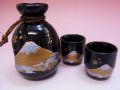 【日本のお土産】◆金富士丸型2客酒器セット【日本美陶】