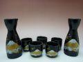 【日本のお土産】◆金富士5客酒器セット【日本美陶】