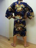 【日本のおみやげ】◆外国人向けハッピローブ【武者】男女兼用(XLサイズ)
