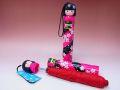 【日本のおみやげ】◆新こけし型折畳傘【全5色有】ローズピンク