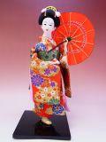 【日本のおみやげ】◆日本人形【傘】12インチ