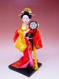 【日本のおみやげ】◆日本人形【和太鼓】小9インチ