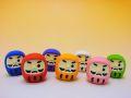 【日本のおみやげ】 ◆おもしろ消しゴム【カラーだるま】 ブリスターパック