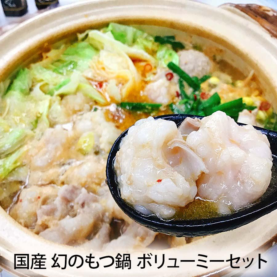 国産 幻のもつ鍋 ボリューミーセット【京のお肉処 弘 錦】