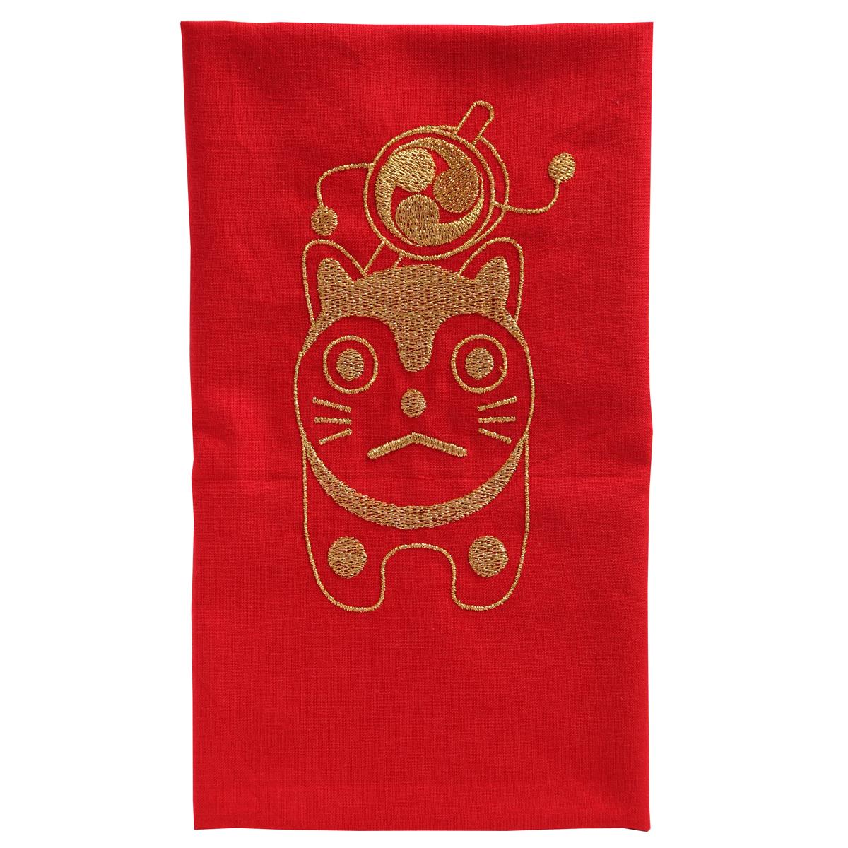 KY01-34R/手ぬぐい/こま犬〈赤〉